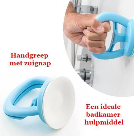 Handgreep Met Zuignap.Een Ideale Badkamer Hulpmiddel Handgreep Met Zuignap 2 Pack